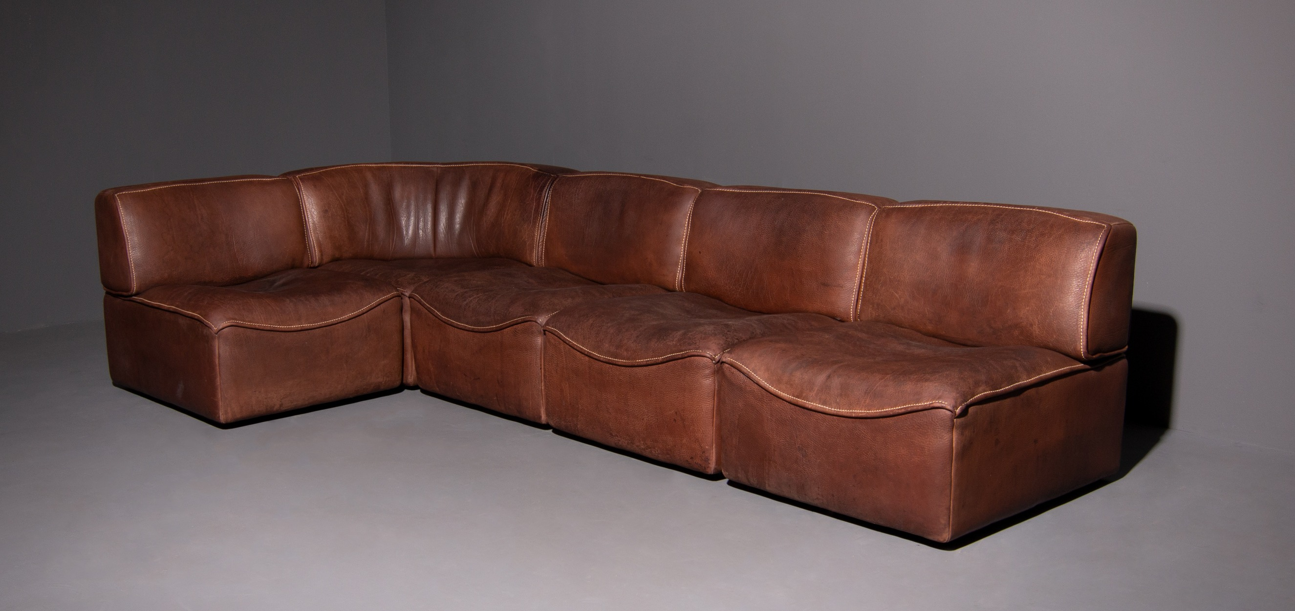 Design Elementen Bank.De Sede Ds 15 Neck Leather Modular Sofa Set Of 5 Mariekke